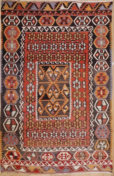 R8703 Antique Turkish Kayseri Kilim Rug