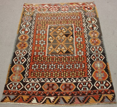 Antique Turkish Kayseri Kilim Rug R8703