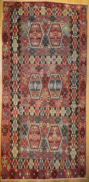 R6577 Antique Turkish Kilim