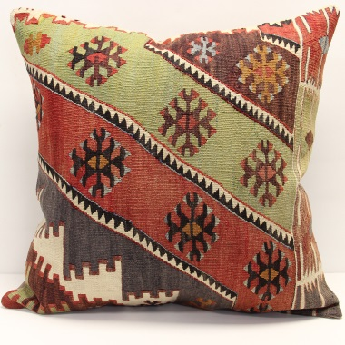 XL395 Antique Turkish Kilim Cushion Cover