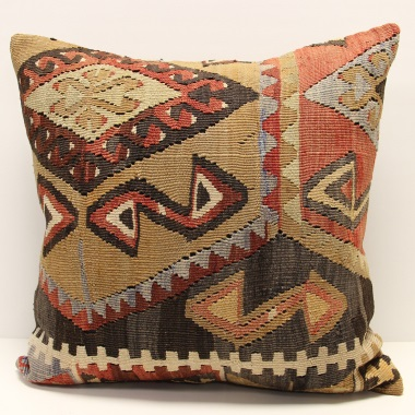 L671 Antique Turkish Kilim Cushion Cover