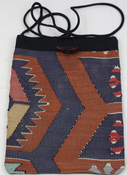 Antique Turkish Kilim Handbag H40