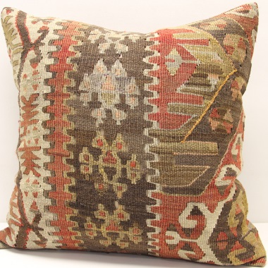 L248 Antique Turkish Kilim Pillow Cover