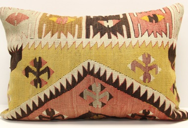 D46 Antique Turkish Kilim Pillow Cover