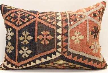 D61 Antique Turkish Kilim Pillow Cover