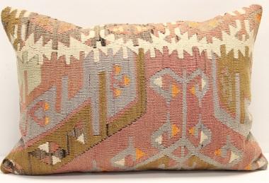 D268 Antique Turkish Kilim Pillow Cover