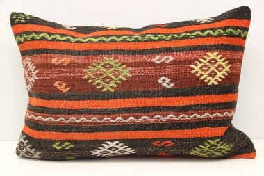 D269 Antique Turkish Kilim Pillow Cover