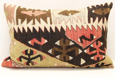 D270 Antique Turkish Kilim Pillow Cover