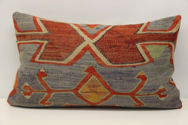D271 Antique Turkish Kilim Pillow Cover