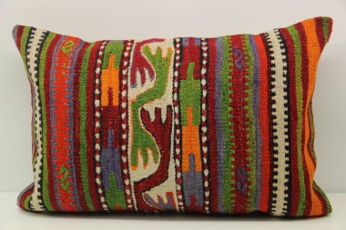D274 Antique Turkish Kilim Pillow Cover