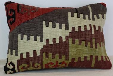 D219 Antique Turkish Kilim Pillow Cover