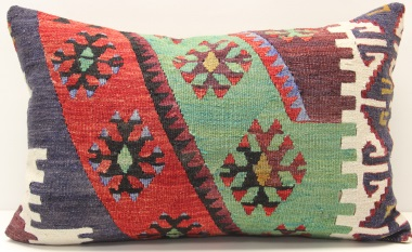 D278 Antique Turkish Kilim Pillow Cover