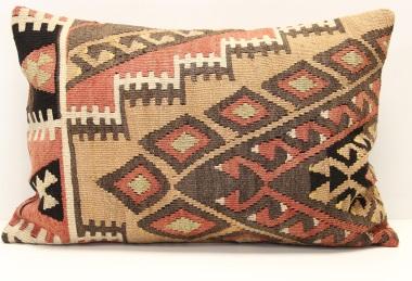 D279 Antique Turkish Kilim Pillow Cover