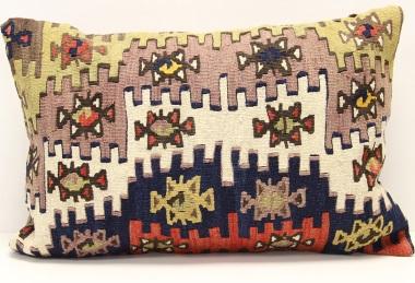 D281 Antique Turkish Kilim Pillow Cover