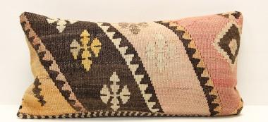 D285 Antique Turkish Kilim Pillow Cover