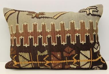 D289 Antique Turkish Kilim Pillow Cover