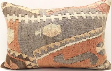 D293 Antique Turkish Kilim Pillow Cover