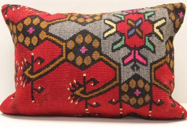 D229 Antique Turkish Kilim Pillow Cover