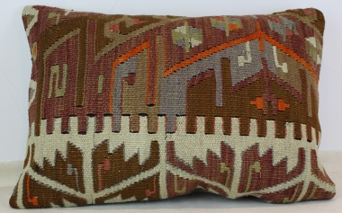 D231 Antique Turkish Kilim Pillow Cover
