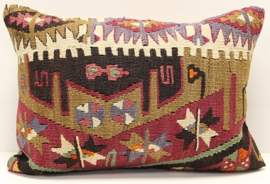 D234 Antique Turkish Kilim Pillow Cover