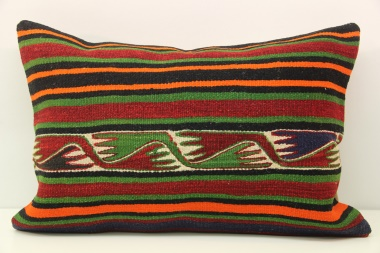 D394 Antique Turkish Kilim Pillow Cover