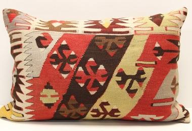 D395 Antique Turkish Kilim Pillow Cover