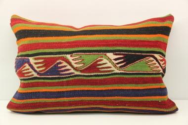 D397 Antique Turkish Kilim Pillow Cover