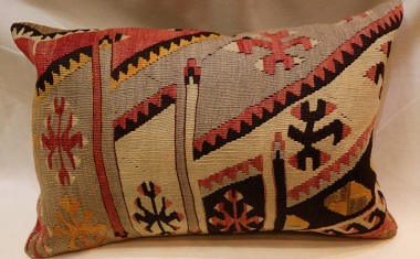 D406 Antique Turkish Kilim Pillow Cover