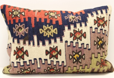 D408 Antique Turkish Kilim Pillow Cover