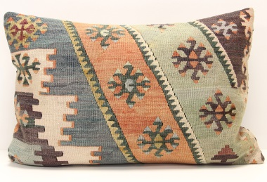 D409 Antique Turkish Kilim Pillow Cover