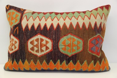 D419 Antique Turkish Kilim Pillow Cover