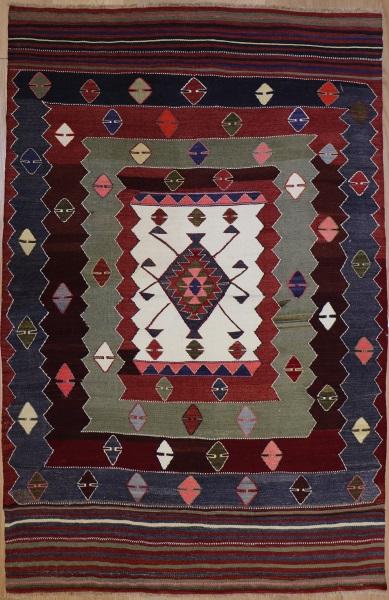R8909 Antique Turkish Kilim Rug