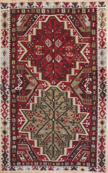 R7350 Antique Turkish Kilim Rug