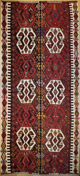 R8742 Antique Turkish Kilim Rug