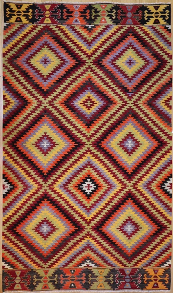R8914 Antique Turkish Kilim Rugs
