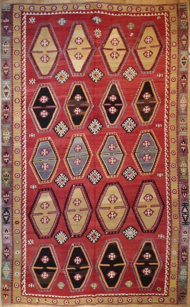 R8947 Antique Turkish Kilim Rugs