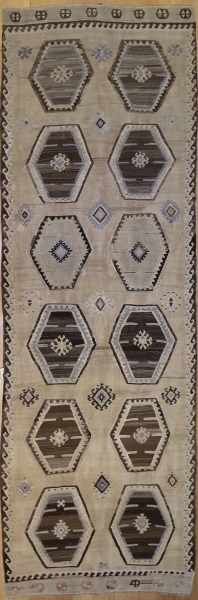 F390 Antique Turkish Kilim Runner