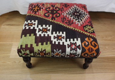 R4062 Antique Turkish Kilim Stool