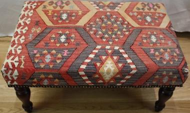 R4746 Antique Turkish Kilim Stools