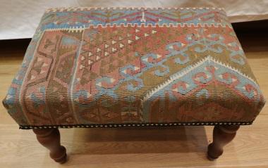 R5955 Antique Turkish Kilim Stools