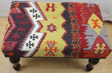 Antique Turkish Kilim Stools R4059