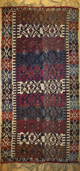 R7804 Antique Turkish Konya Kilim Rug