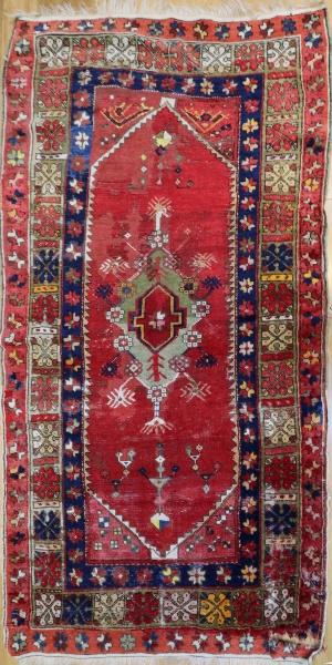 R2849 Antique Turkish Konya Rug
