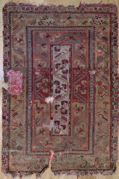 R1430 Antique Turkish Milas Rug