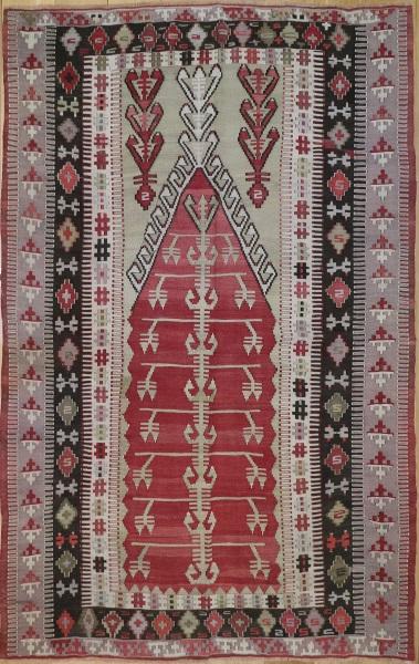 R6621 Antique Turkish Obruk Kilim Rug
