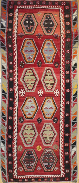 R7357 Antique Turkish Sarkisla Kilim Rug