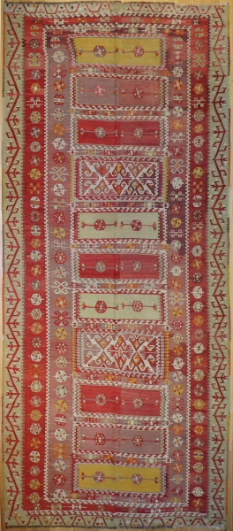 R6622 Antique Turkish Sivas Kilim Rug