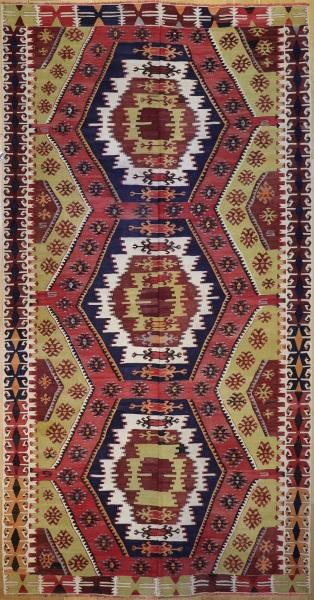 R7138 Antique Turkish Taspinar Kilim Rug