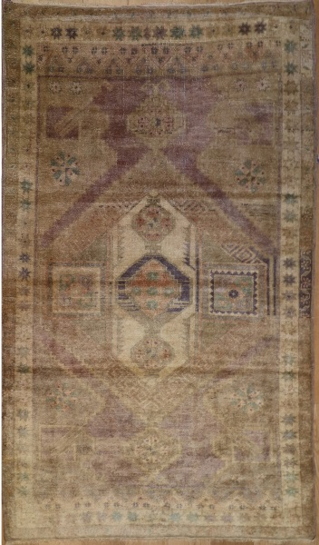 R4443 Antique Turkish Ushak Carpet