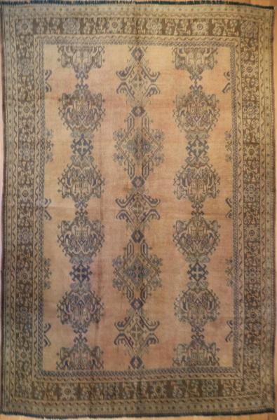 R5332 Antique Turkish Ushak Carpet London